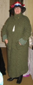 Joyce Meader Wearing Her Reproduction 1910s Knitted Suit, Knitting History Forum Conference 2007. Photo by Loraine McClean.