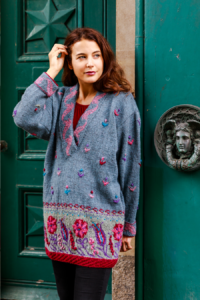 Classic Knits of the 1980s by Sandy Black Persian Flower Design