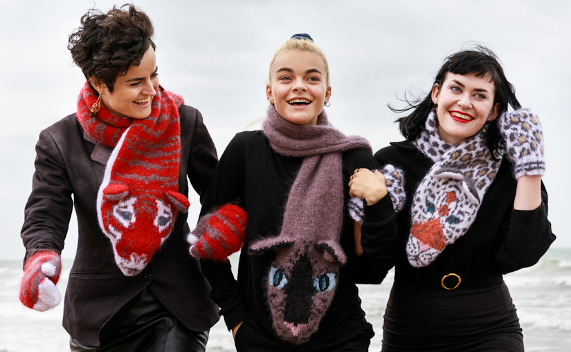 Classic Knits of the 1980s by Sandy Black Three Cats Design