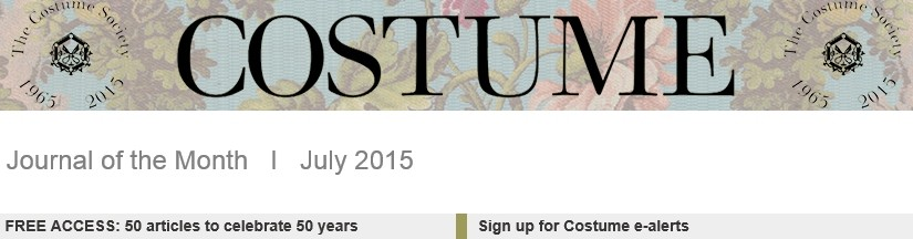 Costume Society 50th Anniversary Banner, Maney Online