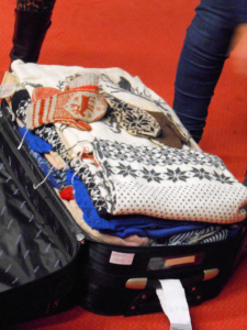 Annemor Sundbø's suitcase of extraordinary knitting at KHF AGM & Conference 2018