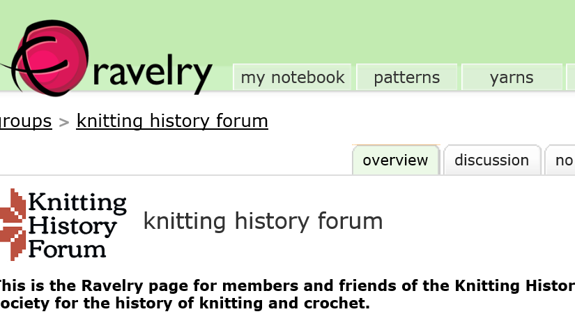 Knitting History Forum Ravelry Group