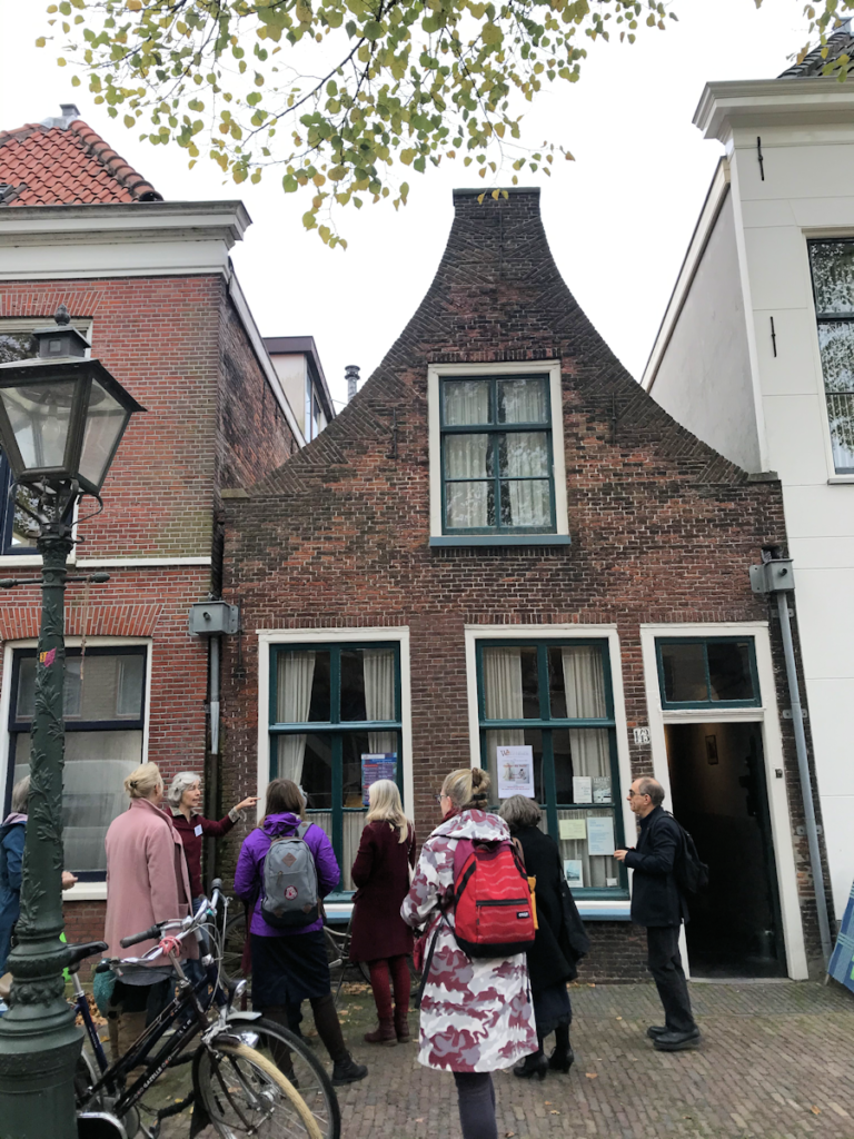 Knitting History Forum TRC Leiden Conference 2019 – Weaver's house visit, after AGM 03.11.19 – image 2019 by Christine Carnie