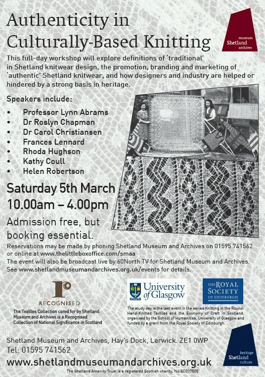 Info - Shetland Museum Study Day : Authenticity in Culturally-Based Knitting