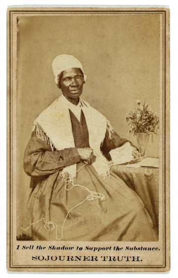 Sojourner Truth from 'People Knitting A Century of Photographs' by Barbara Levine