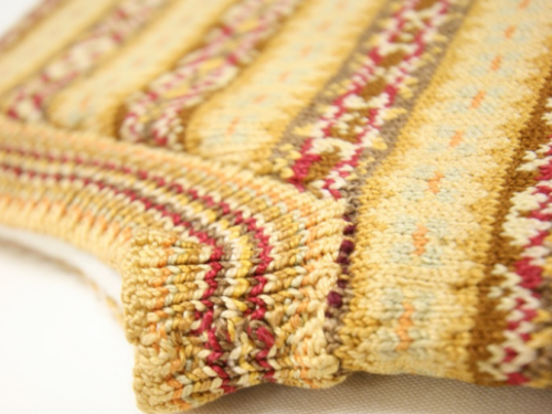 Vintage Shetland Project - detail of a hand-knitted garment from the Shetland Museum