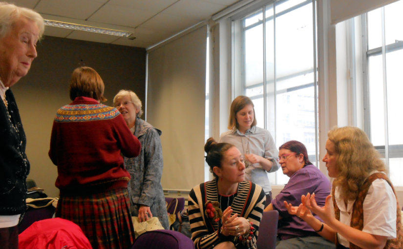 Speakers and KHF members at the Knitting History Forum Conference in November 2015