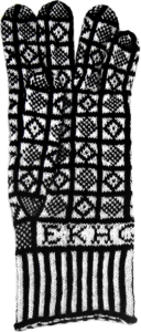 Knitting History Forum/Early Knitting History Group Reconstruction Knitted Sanquhar Glove courtesy of Kirstie Buckland. PLEASE DO NOT USE IMAGE WITHOUT PERMISSION