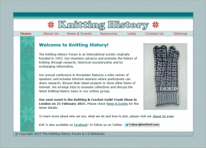 Knitting History the website of Knitting History Forum the international society for the history of knitting and crochet up to January 2015