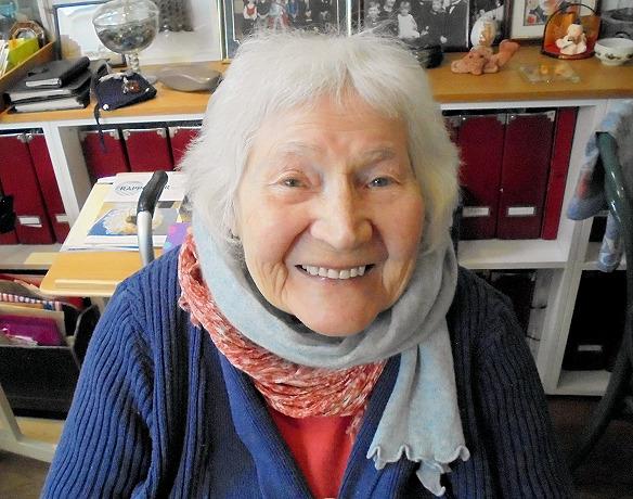Dr Karen Finch OBE. Summer, 2015. Photo by Kirstie Buckland.