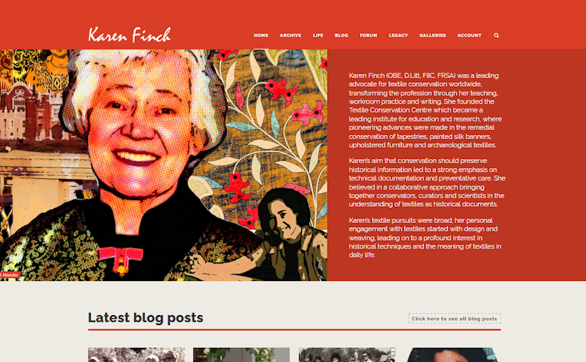 Karen Finch Textiles Website