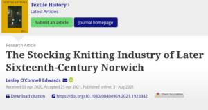 Stocking Knitting In Sixteenth Century Norwich