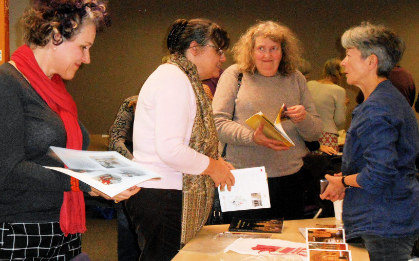 Chatting at the Knitting History Forum Conference in November 2015